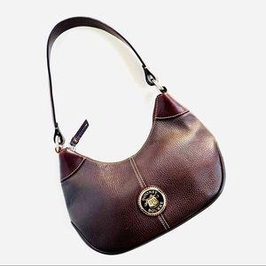 Vintage Dooney & Bourke Brown Leather Shoulder Bag
